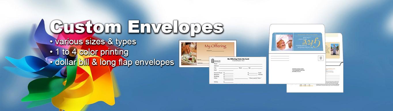 Custom Envelopes at ChurchSupplier.com