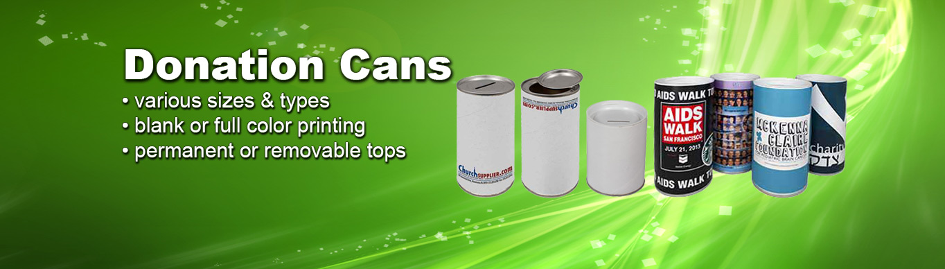 Donation Cans at ChurchSupplier.com