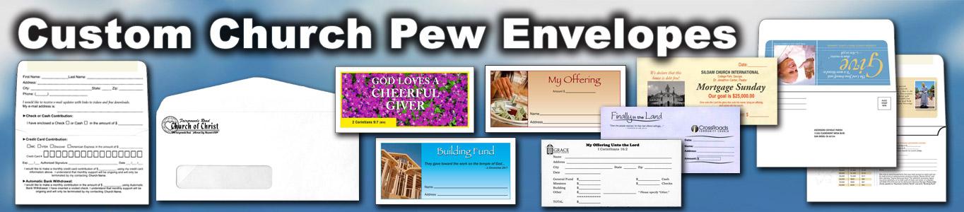 Custom Printed Pew Envelopes