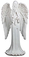 Praying Angel Statue White Resin