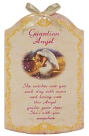 Guardian Angel Ceramic Wall Plaque