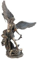 St. Michael Tramples Demon Statue