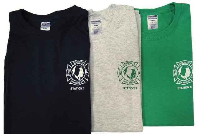 Custom silk screened firefighter t shirts for Custom silk screen shirts