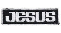 Jesus Embroidered Patch Black White