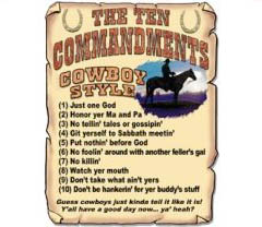 Cowboy Ten Commandments Hooded Sweatshirt