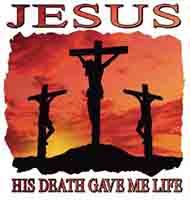 Jesus His Death Gave Me Life T-Shirt in 5 Colors
