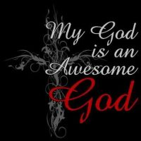 Awesome God T-Shirt, Sizes to 3X in 5 Colors
