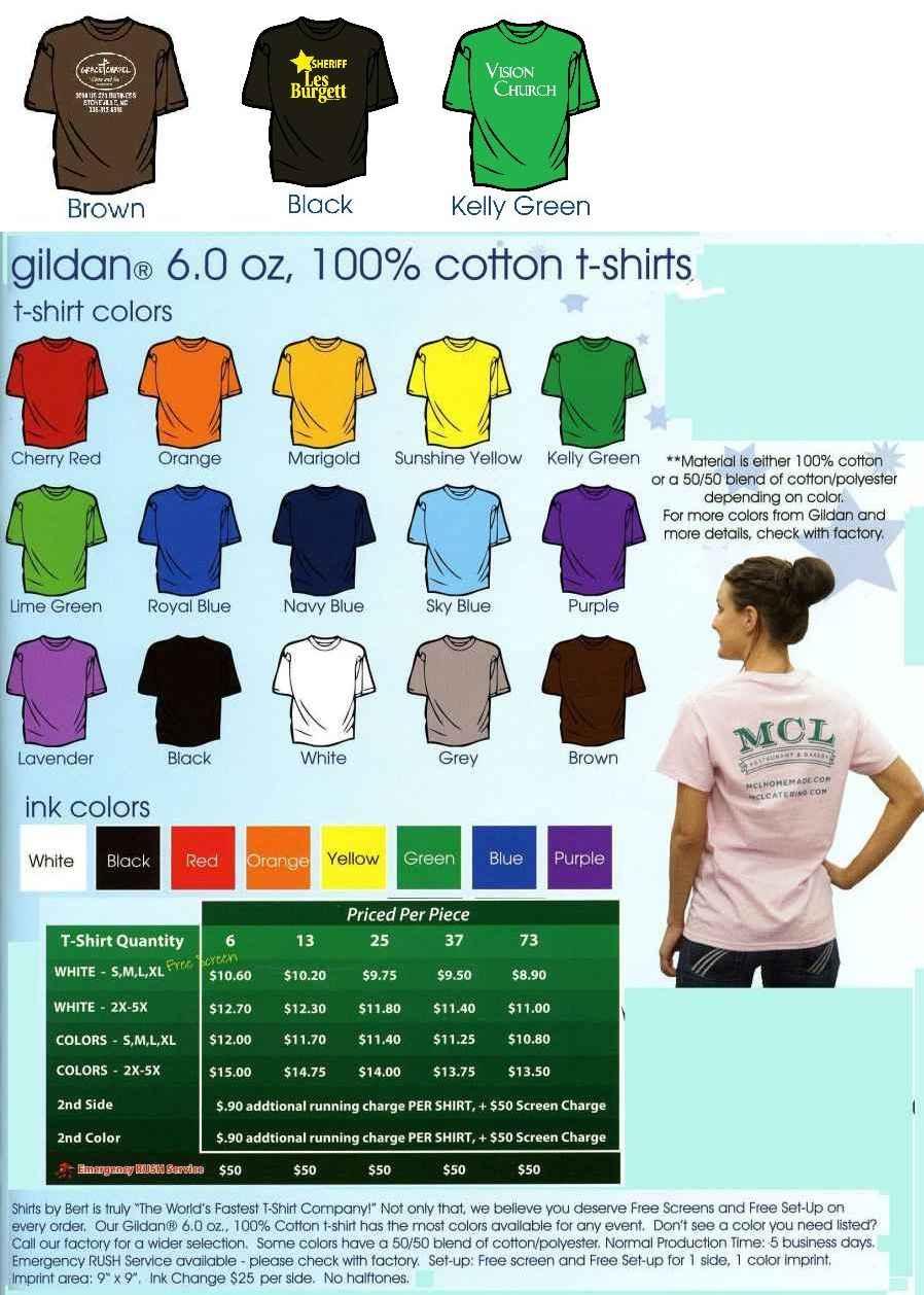 Custom Printed T-Shirts! Small Quantities