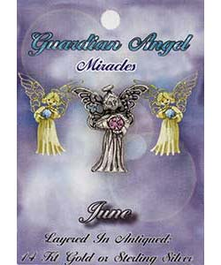 Carded Birthstone Angel Pin Sterling Silver