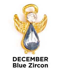 Birthstone Angel Pin