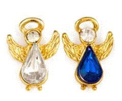 Heavenly Birthstone Angel Pin