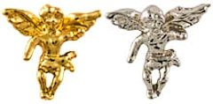 2218 Gold & Silver Angel on My Shoulder Pin