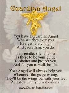 Angel on My Shoulder Pin Standing Up Gold Inexpensive
