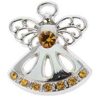 Silver Birthstone Angel Pin Fancy