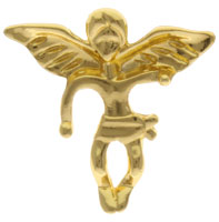 Gold Guardian Angel Pins Larger Size, Carded