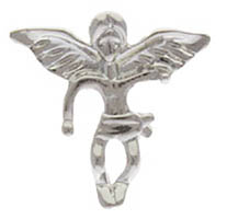Silver Guardian Angel Pins Larger Size, Carded