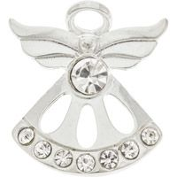 Fancy Silver Birthstone Angel Pin