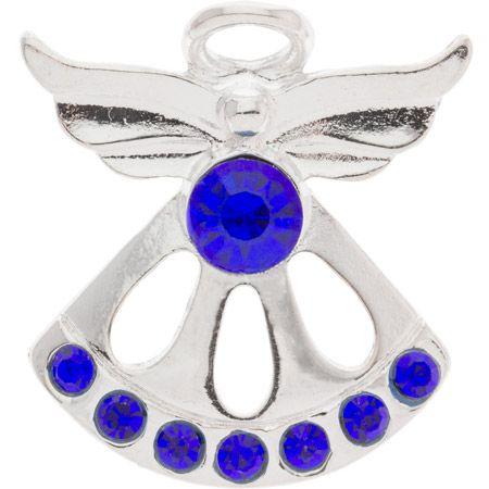 Birthstone Angel Pin - Sapphire