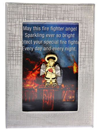 Firefighter Guardian Angel Lapel Pin Boxed