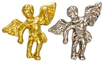 Gold Angel On My Shoulder Pin