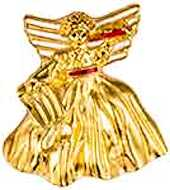 2237 Christmas Gold Angel Pin