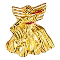 Christmas Angel Pin Gold