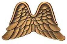 Angel Wings Pins Antique Gold