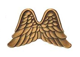 Antique Gold Angel Wings Pins