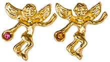 Gold Birthstone Guardian Angel Pin