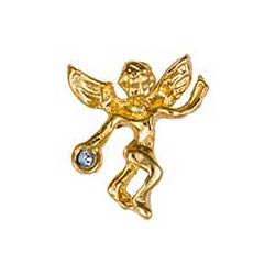 Gold December Birthstone Guardian Angel Pin