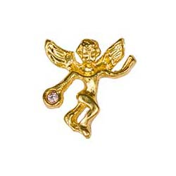 Gold June Birthstone Guardian Angel Pin