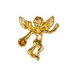 Gold November Birthstone Guardian Angel Pin