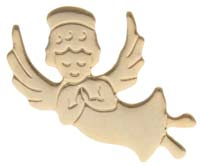 Gold Angel pin. Flat gold happy nurse or caregiver angel pin Gold Plated 5/8. Attach to packages, Guardian angle pins.  Church