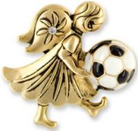 Soccer Deluxe Angel Pin - Football