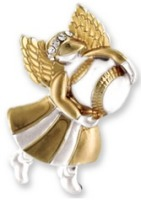 Baseball Angel Pin