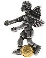 Soccer Player Angel Pin