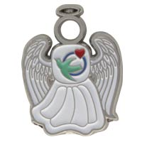 Visiting Nurse Guardian Angel Pin White