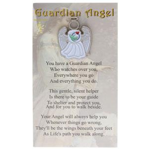 Visiting Nurse Guardian Angel Pin White