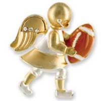 Football Deluxe Angel Pin