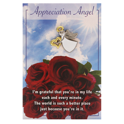 Appreciation Angel Pin Silver Gold