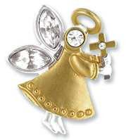 Faith Angel Lapel Pin Gold