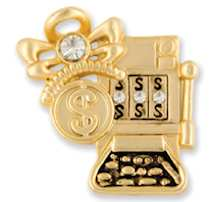 Slot Machine Angel Pin Gold