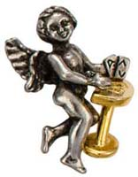 Poker Cards Gambling Angel Lapel Pin