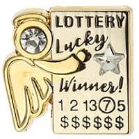Lotto Gambling Angel Lapel Pin