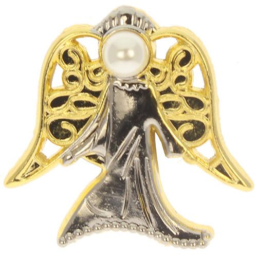 PEARL Special Angel Pin, Healing - Gold, Silver