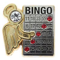 Bingo Winner Angel Lapel Pin