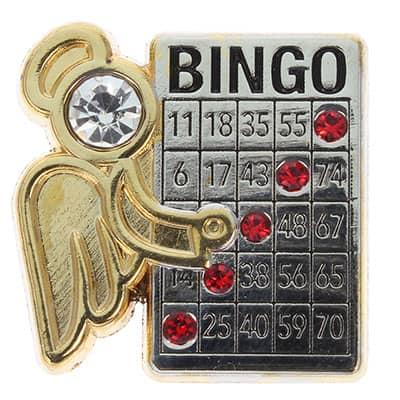 Bingo Winner Angel Lapel Pin