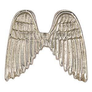 Silver Glitter Angel Wings Pin
