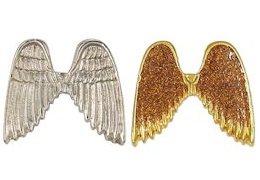 Angel Wings Pin in Silver or Gold