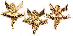 2283 Congratulations, Get Well and Thank You Angel Pins